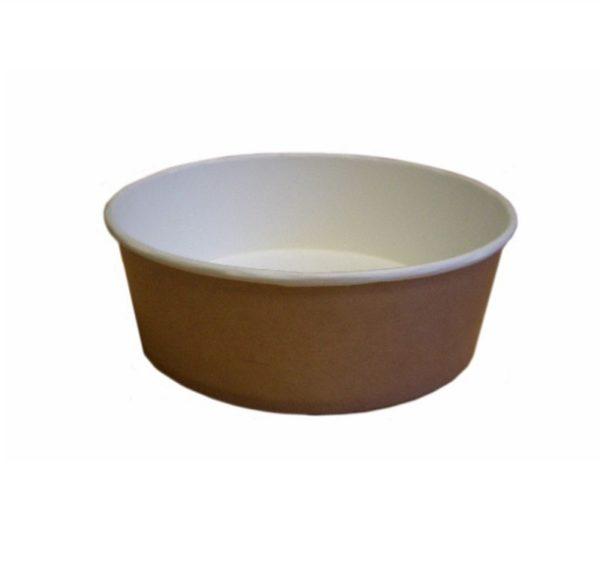 Papír konténer salátás, kraft 550 ml d=143 mm, h=52 mm (50 db/csomag)