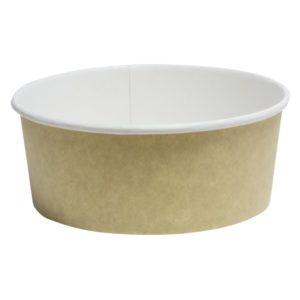 Papír konténer salátás, kraft 750 ml d=150 mm, h=60 mm (50 db/csomag)