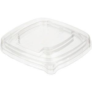 Fedél PET Sabert 130×130 mm, átlátszó (50 db/csomag)