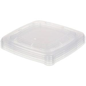 Fedél PP Sabert 180x180x20 mm, átlátszó (100 db/csomag)