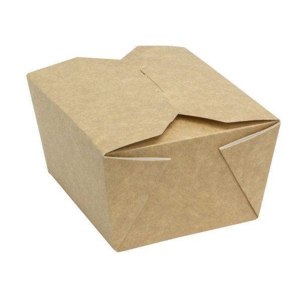 Fold Box papír konténer, kraft 950 ml 170х135х50 mm  (400 db/csomag)