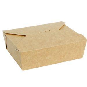 Fold Box papír konténer, kraft 600 ml 130х110х65 mm  (50 db/csomag)