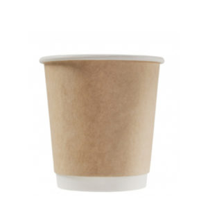 Pohár papír 2 rétegű, 250 / 280 ml, d = 80 mm, kraft (25 db/csomag)