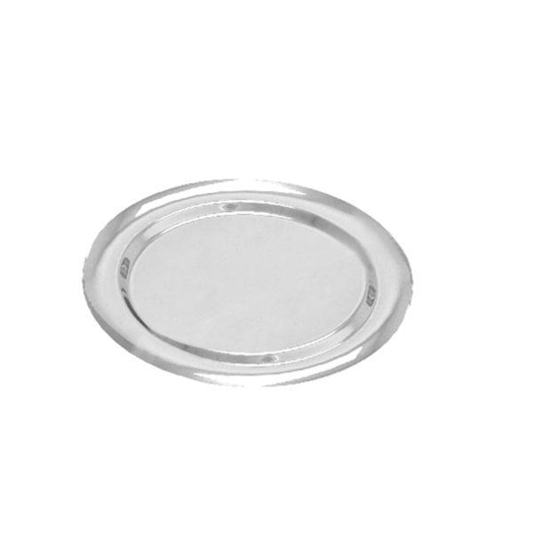 Tálaló tálca PET d=270 mm ezüst (5 db/csomag)