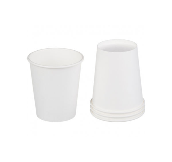Papírpohár forró italokhoz, 1rétegű, fehér, 250 (50 db/csomag)