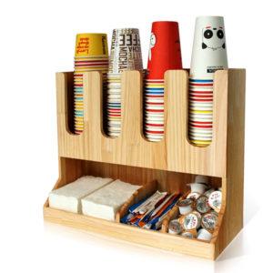 Állvány 4 szekcióval poharak számára és 4 szekcióval tartozékok számára (AA20-Wo), FA