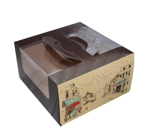 Sütemények és édességek csomagolása Randevú 230х230х120 mm (5 db/csomag)
