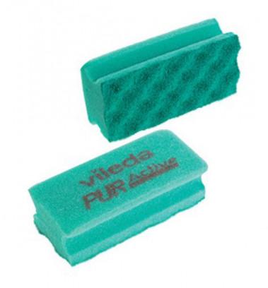 Szivacs 63x140mm 10db/csomag Vileda Profi PurActive zöld (123115/123111)