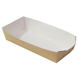 Papírtálca hot dog kutya számára, ECO HD 165x70x40 mm, Kraft (800 db/csomag)
