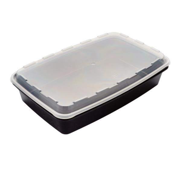 PP doboz SP 1300ml  250х168х50mm téglalap alakú, fekete (100 db/csomag)