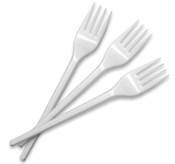 Műanyag villa fehér 16;5 cm (100 db/csomag)