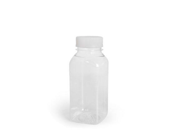 Műanyag üveg 0;3l d-38mm fehér kupakkal (100 db/csomag)