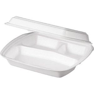 Ebédes doboz hungarocell 3 rész 250х206х65mm LB-3; 100db