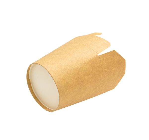 Papírdoboz PKR 138x94x98;4mm 700ml kraft papír, kerek alj (50 db/csomag)