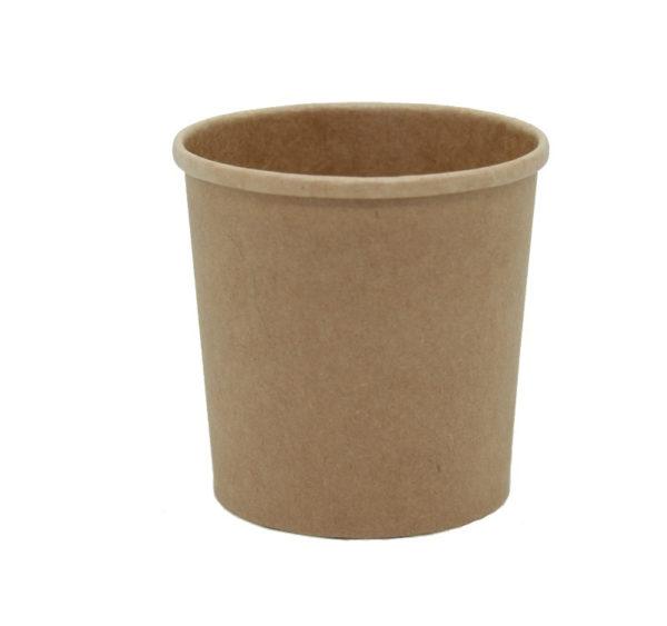 Papírdoboz d=70mm, h=85mm 340 ml kraft papír forró italokhoz TaMbien ECO (25 db/csomag)
