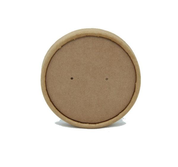 Leveses tányér fedél d=90mm, kraft (25 db/csomag)