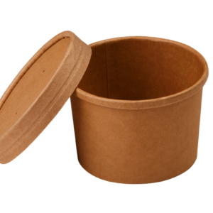 Papírdoboz d=90mm, h=60mm 240 ml kraft papír forró italokhoz TaMbien ECO (25 db/csomag)