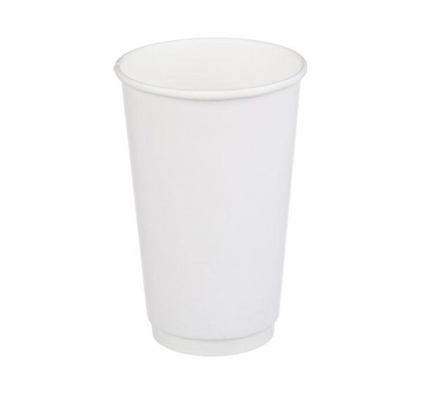 Papírpohár 2 rétegű, fehér, forró italokhoz 400 (18 db/csomag)