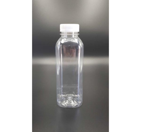 Műanyag üveg 0,5l fehér kupakkal d=38 mm (120 db/csomag)
