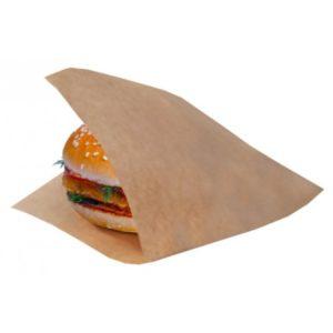 Hamburger tasak kraft papír L