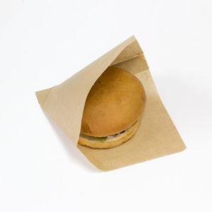 Hamburger tasak kraft papír M