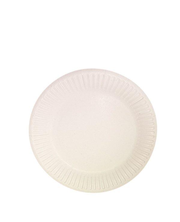 Kerek fehér lemez d = 230 mm Snack Plate, bio (100 db/csomag)