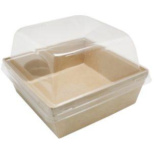 Hamburgeres doboz eco prizma ECO Prizma 550ml 128x128x50 mm, Kraft (50 db/csomag)