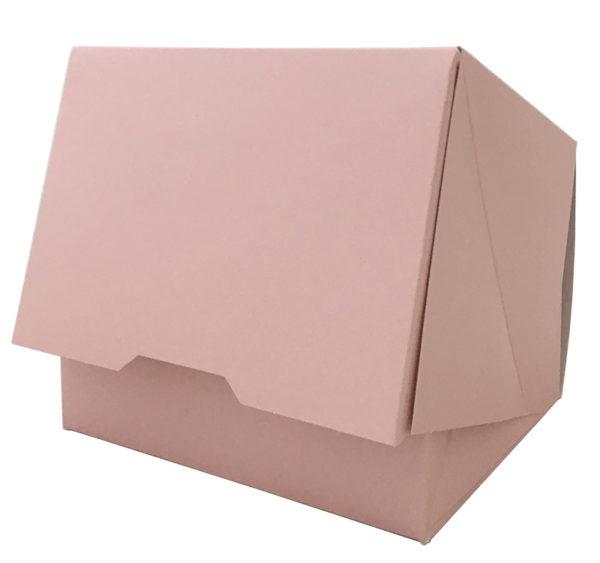 Papírdoboz 140x120x100mm, rozsaszin (150 db/csomag)