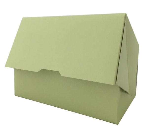 Papírdoboz 200x120x100mm, zold (100 db/csomag)