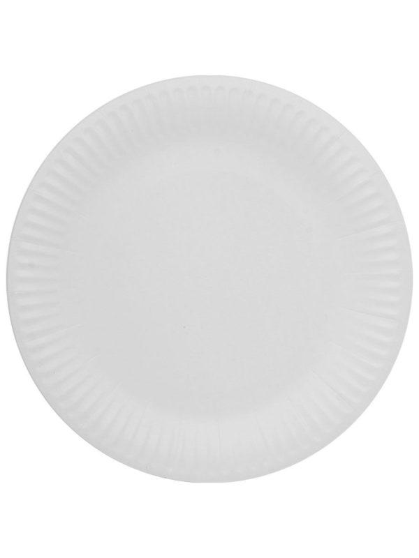 Kerek fehér lemez d = 230 mm Snack Plate (100 db/csomag)