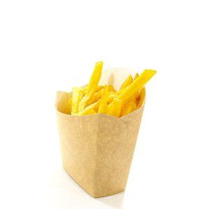 Sültkrumplis doboz Fry Pack 100x45x110mm Kraft (35 db/csomag)