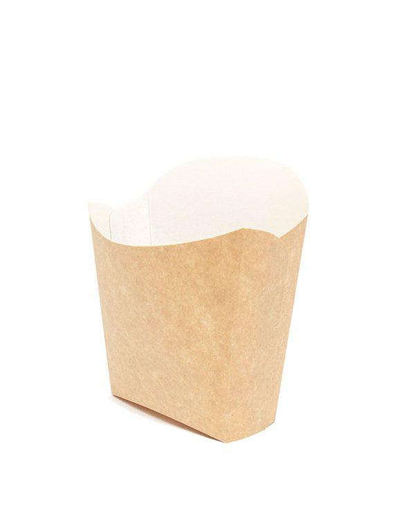 Sültkrumplis doboz Fry Pack 115х45х123mm Kraft (50 db/csomag)