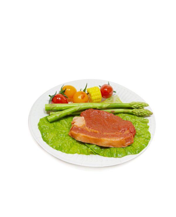 Kerek fehér lemez d = 180 mm Snack Plate (100 db/csomag)