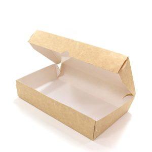 Skatla od papirja Meal Box 1000 ml 200x120x40 mm, Kraft (50 db/csomag)