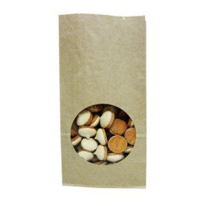 Papírzacskó kraft téglalap alakú alj 120 х 80 х 250 mm (500 db/csomag)