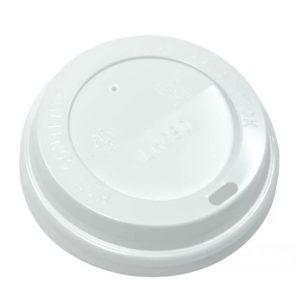 Fedél PS oldalsó lyukkal d=73 mm fehér (100 db/csomag)