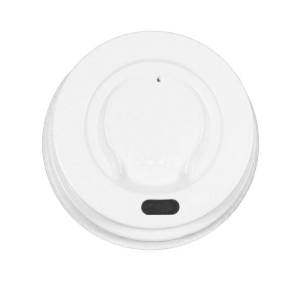 Fedél PS oldalsó lyukkal d=62 mm fehér (100 db/csomag)