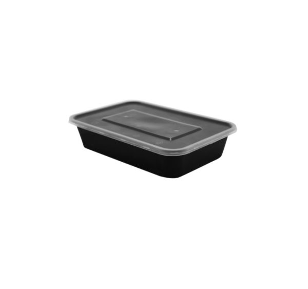 Üveg PP 500 ml fekete (50 db/csomag)