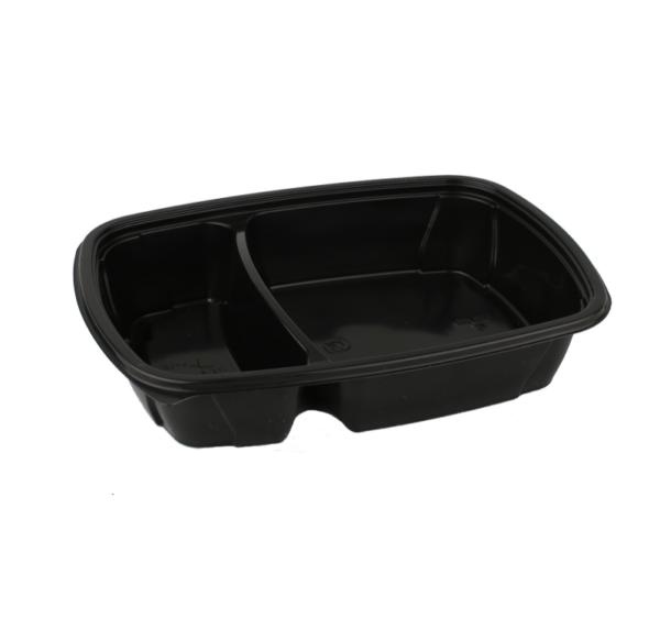 Doboz 2 részes fekete PP 350/600 ml (300 db/csomag)