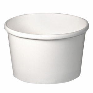 Papírdoboz 500 ml, d=121mm h=72mm, fehér (50 db/csomag)