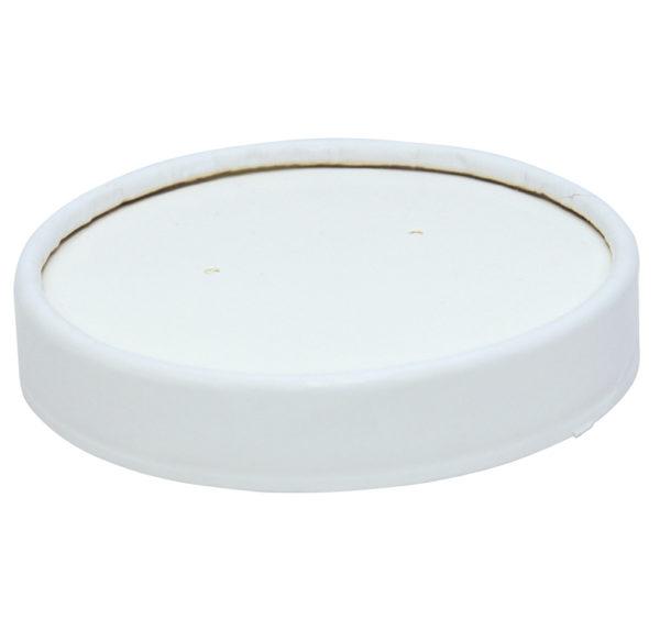Leveses tányér fedél Tambien ECO, d = 90 mm, fehér (25 db/csomag)