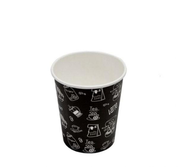 Papírpohár Complement 250 ml d=80 mm fekete (50 db/csomag)