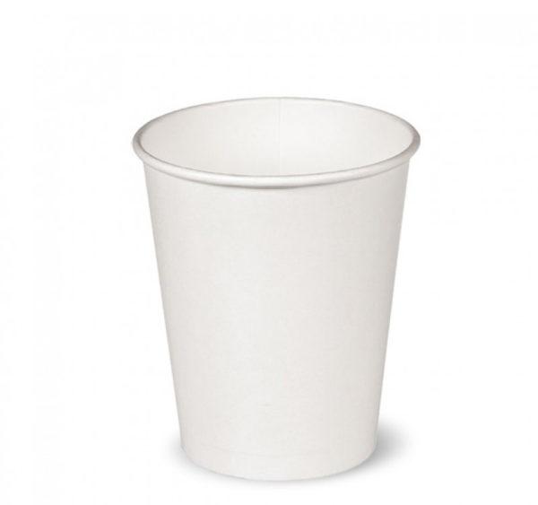 Papírpohár 1 rétegű, fehér, forró italokhoz 250 ml (50 db/csomag)