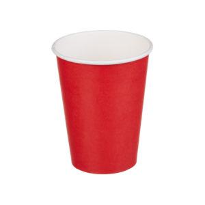Papírpohár 1 rétegű 300 ml d=90 mm piros (50 db/csomag)
