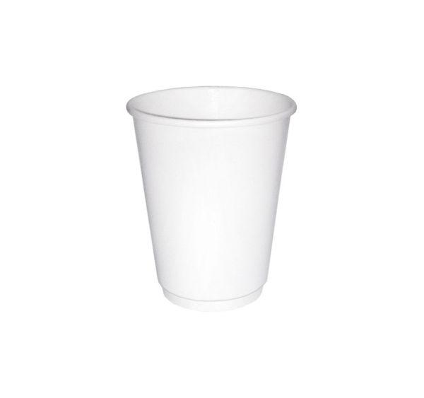 Papírpohár 2 rétegű 250 ml d=80 mm fehér (24 db/csomag)