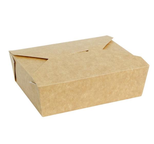 Fold Box papír konténer, kraft 600 ml 130x110x65 mm (50 db/csomag)