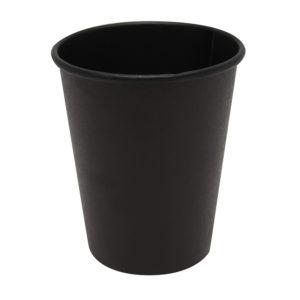 Papírpohár 1 rétegű 250 ml d=80 mm Total Black (75 db/csomag)